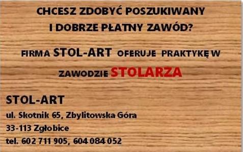 ogłoszenie Stolart-praktyka
