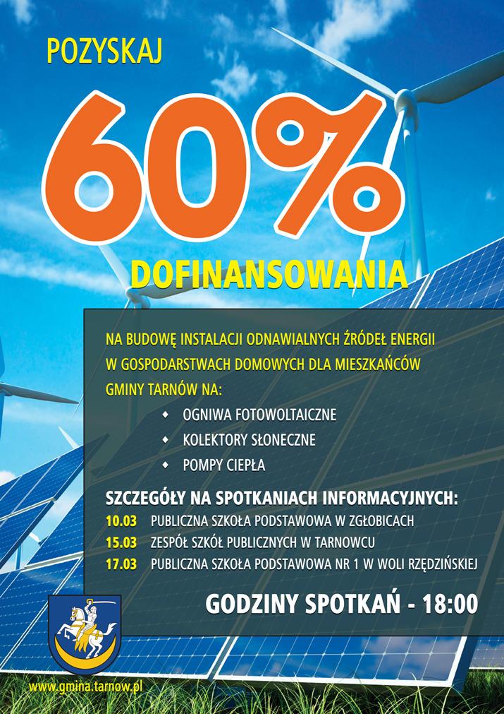 plakat Odnawialne zrodla energii zbylitowska góra