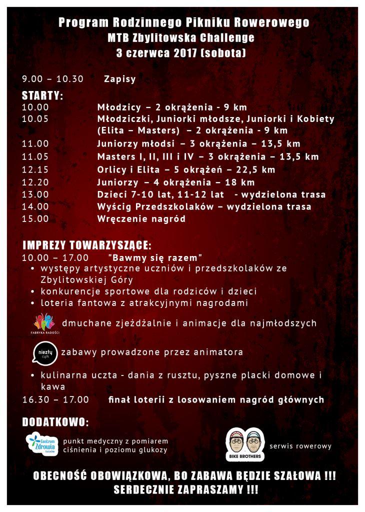 program MTB ZBYLITOWSKA CHALLENGE